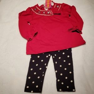 NWT - Girls Outfit - Leggings and Top